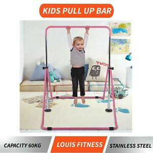 Kids Horizontal Gymnastics Training Steel Bar Expandable Folding Kip Exercise