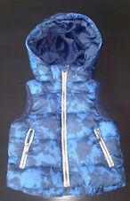 H&M Daunenweste Weste mit Kapuze Gr. 92 blau schwarz