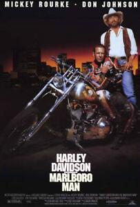 Harley Davidson and the Marlboro Man Movie POSTER 27 x 40  Mickey Rourke, A