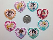 8 Pcs Lot Princess Flatback Resin Cabochon Hair Bow Centers.