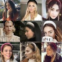 Women Girls Headband Thick Velvet Sponge Hairband Head Hoop Headwear Fashion