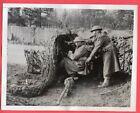 1941 British Camouflaged Anti-Tank on Exercise Original News Photo