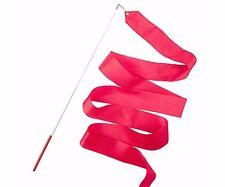 RHYTHMIC ginnastica multifunzione rosa caldo Ballet DANCE Twirling Streamer STICK Rod 4M