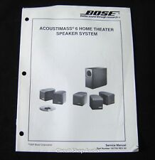 Original Bose Acoustimass 6 Home Theater Speaker System Service Manual