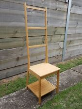 IKEA RAGRUND Bamboo Chair Seat Stool Towel Rack Rail Holder With Shelf