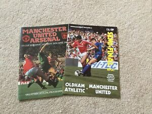 F A Cup Semi Finals Man Utd v Arsenal And Oldham  (vgc)