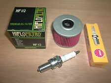Tune Up Kit Spark Plug Oil Filter Honda 350X 250SX Big Red 250ES Foreman TRX 300