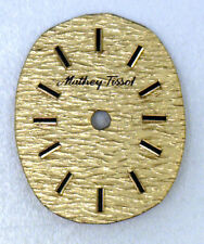 New NOS Antique Vintage MATHEY TISSOT Gold Oval Wrist Watch Dial Face #W520