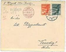 Primi Voli - FLIGHTS - AUSTRIA : Longhi # 1586 - Vienna - Venezia WIEN 1926