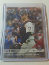 2018 Topps Now #817 Joe Mauer Catches 1st Time in 5 Years Potential Final Game