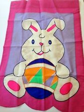 Decorative Garden Flag indoor outdoor two-sided Easter holiday Bunny, Easter egg