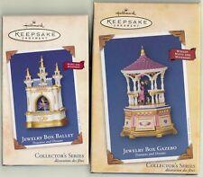 2002 2004 Hallmark KeepsakeOrnament JEWELRY BOX BALLET & JEWELRY BOX GAZEBO