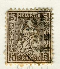 Svizzera; 1862 Classic seduta HELVETIA fine utilizzato 5 C. valore,