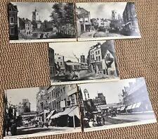 5 Postcard Views of London Mare Street, Hackney 1750-1910