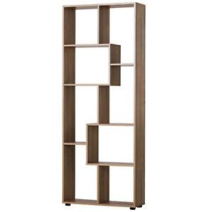 178cm 8-Shelf Bookcase w/ Melamine Surface Foot Pads Anti-Tipping Home Oak Tone