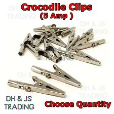 Sold in Pairs. 5 Amp Small Crocodile Clips