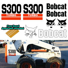 Bobcat S300 S 300 TURBO Skid Steer Set Vinyl Decal Sticker 7 PC SET + APPLICATOR