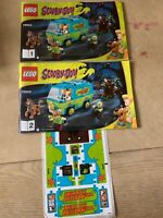 Lego Scooby-Doo 75902 Instruction Booklet Van Mystery Machine Manual & Stickers