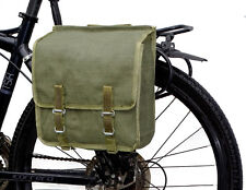 Ex-Army Showerproof Canvas Pannier Bag retro green bike quality vintage 1980s