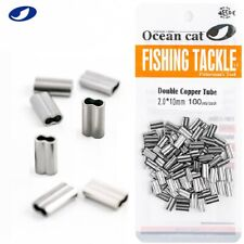Ocean Cat Double Barrel Copper Tube Crimp Sleeves Leader Crimps Connector Tackle