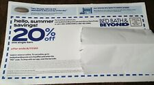 Bed Bath & Beyond 20% off one single item coupon