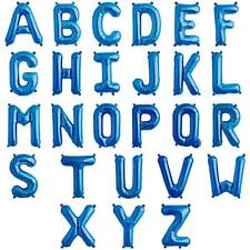 """Alfabeto/Letra globos de Papel Aluminio (34"""") Decoración Azul Helio Calidad {"""