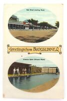 ".RARE EARLY 1900s ""GREETINGS FROM BARCALDINE, Q"" GLOSS COLOUR POSTCARD."