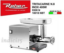 Indici15 Tritacarne Elettrico 9508N n°8 INOX 400W 0,30HP Professionale Reber