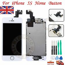 For iPhone 5S LCD Display Touch Screen Digitize Assembly HomeButton Camera White