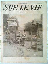 """Journal/Revue """"SUR LE VIF"""" N°87 du 8 Juillet 1916"""