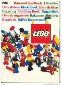 livre d´idées lego system 200 de 1985