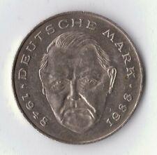 sehr schöne 2 dm-münzen der brd mit l. erhard (ab 1988