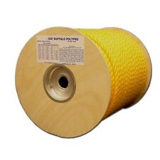 "T.W. Evans Cordage Co. 80-031 - 1/2"" X 150' Buffalo Twisted Yellow Polypro Rope"