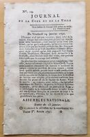 Journal Royaliste 1791 Révolution Française Jacobin Hamelin Virieux Saint Paul