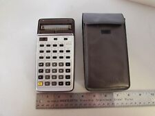VINTAGE RARE Omron Electronic Calculator 10SR in Case 1976 RPN SCIENTIFIC