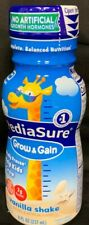 24 (1 Case) Of PediaSure Grow & Gain Nutrition Shake Vanilla DHA 8oz Lot 11/2020