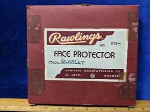 Vintage RAWLINGS Face Protector NO.RTB Color Scarlet in Original Box Football