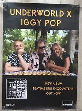 IGGY POP UNDERWORLD - PROMO POSTER - TEA TIME DUB ENCOUNTERS (LP CLEAR VINYL EP)