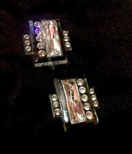 Earrings Runway Rare D-I-O-R Christian Dior 100% Authentic Crystal