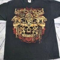 2010 Lamb Of God Pure American Metal Graphic Tour Shirt Sz XL