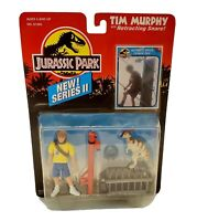 Vintage 1993 Kenner Jurassic Park Series II Tim Murphy W/ Retracting Snare NEW