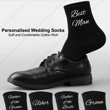 Mens Personalised  Black & White Wedding Socks UK Gift Custom Groom Novelty
