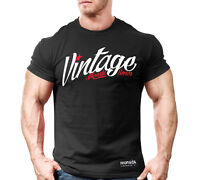 Mens Monsta Clothing Fitness Gym T-shirt - CSS Vintage (WT/RD)