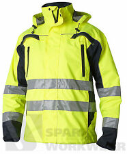 Waterproof Hi Vis Shell Jacket High Visibility Clothing Top Swede