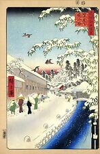 Japanese Art: Hiroshige: 100 Famous Views of Edo: Falling Snow: Fine Art Print