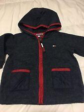 Tommy Hilfiger Fleece Navy Blue Jacket Hood Coat 12-18 Months EUC