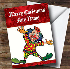 Clown Personalised Christmas Greetings Card