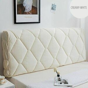 Headboard Cover Velvet Fabric Solid Bed Head Cover Soft Bed Back Dust Protector