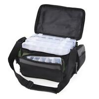 Fishing Tackle Bag Pack Waist Shoulder-bag Lure Storage Box Case Pouch Container