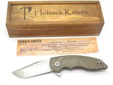 Jake Hoback A8 Slimline BRZ Custom Titanium Framelock Tanto Folding Pocket Knife